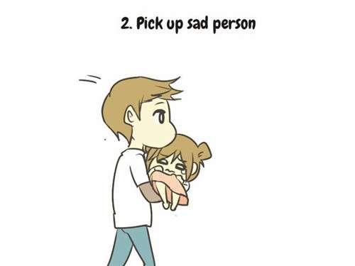 如何照顾安慰失恋的人 一组很甜的漫画告诉你
